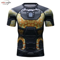 Deadpool Dead pool Taco 3D Printed T shirts Men Compression Shirt 2018 New Fun   Cosplay Costume Short Sleeve Tops For Male AT_70_6