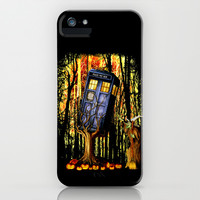 Halloween Tardis doctor who captured by witch apple iPhone 4 4s, 5 5s 5c, 6, iPod & samsung galaxy s4 case