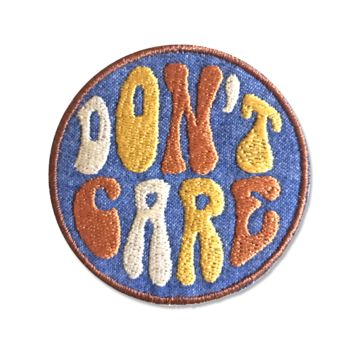 Don't Care Iron-On Patch