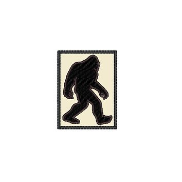 "Patch Craft - Bigfoot Classic Silhouette - (3.75"" x 5"" Patch Iron On)"