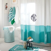 Classic Border Shower Curtain, Pool
