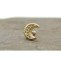 Moon Gold Nose Ring Nose Stud