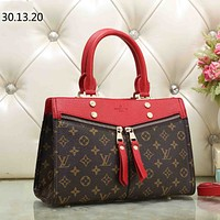 LV Louis Vuitton tide brand female shopping bag shoulder bag handbag Messenger bag red