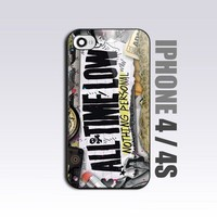 All Time Low Nothing Personal - For iPhone 4 or 4S Black Case / Cover