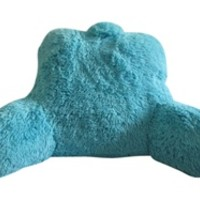 Shaggy Bedrest - Aqua Blue College Dorm Bedding Supplies dorm bed backrest can be used for extra fun seating