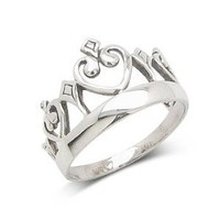 Miss America Princess Crown Sterling Silver Ring Size 7(Sizes 4,5,6,7,8,9,10)