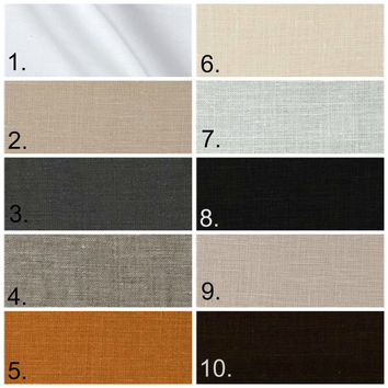 100% Linen Crib Bedding, Variety of colors