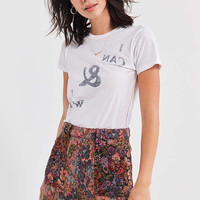 BDG Floral Jacquard Mini Skirt   Urban Outfitters