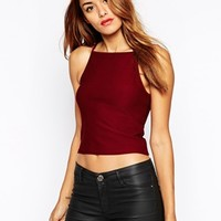 ASOS Textured Top With Square Neck