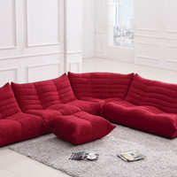 Divani Casa Bloom - Modern Fabric Sectional Sofa