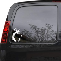 "Auto Car Sticker Decal Dog Head Pet Husky Animal Laptop Window 5"" by 7"" Unique Gift ig132c"