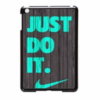 Nike Just Do It Wood Colored Darkwood Wooden Fdl iPad Mini Case