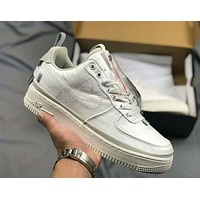 "Nike Air Force 1'07 QS ""90/10"" 2019 new white retro wild men and women low cut sports shoes"