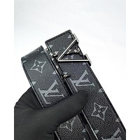 LV hot selling men's and women's casual belt fashion printing belt belt