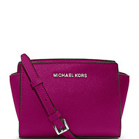 MICHAEL Michael Kors Mini Selma Messenger Bag - Fuchsia