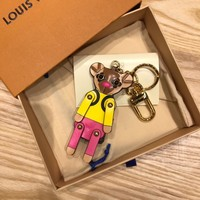 Louis Vuitton Lv M63758 Xmas Teddy Bear Bag Charm & Key Holder Teddy Bear