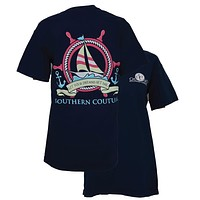 Southern Couture Dreams Set Sail Boat Anchor Comfort Colors T-Shirt