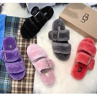 UGG Adjustable Buckled Wool Slippers Shoes
