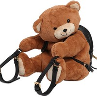 Indie Designs Moschino Inspired Teddy Bear Leather Backpack