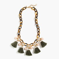 Tortoise link and tassel necklace