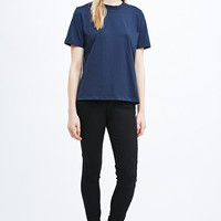 Carin Wester Beverly Garment Dye Tee in Navy - Urban Outfitters
