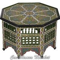 Green Hand-painted Coffee Table (FN060)