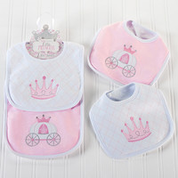 Little Princess Pink Bibs-set of two