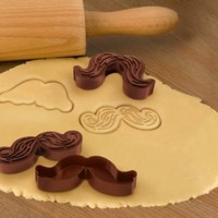 Fred and Friends Munchstaches Cookie Cutter/Stamps