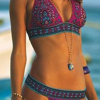 Printed Push Up Padded Bikini