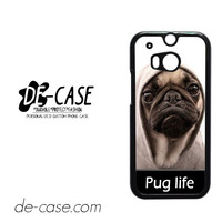 New Design Funny Hilarious Pug Life Parody Fans For HTC One M8 Case Phone Case Gift Present