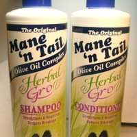 Mane 'n Tail Herbal Gro Shampoo & Conditioner Olive Oil Complex 12 oz:Amazon:Everything Else