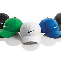 NIKE DRI-FIT SWOOSH GOLF TENNIS BASEBALL adjustable  CAP HAT moisture dry fit