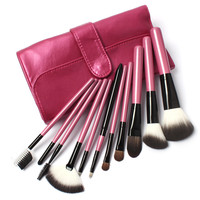 11 PCs Makeup Kit with leather pouch