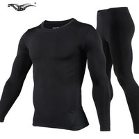 Men Outdoor Sports Thermal Underwear Set Polartec Winter Warm Long Johns Men Thermo Underwear Top Pants Cycling Base Layers