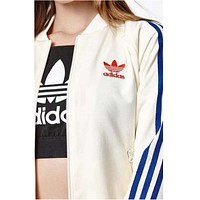ADIDAS Clover embroidery butterfly women men coat jacket