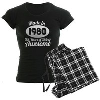 Made in 1980 Awesome Pajamas