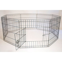Octagon Eight Panel Portable (Foldable) Pet Dog & Cat Wire Pen - 24in Height