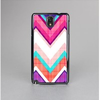 The Vibrant Teal & Colored Chevron Pattern V1 Skin-Sert Case for the Samsung Galaxy Note 3
