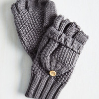 Boho Saturday at the Stables Convertible Gloves in Grey by ModCloth