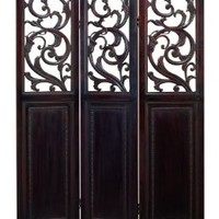 Wood Metal 3 Panel Screen Simply The Best Choice by Benzara