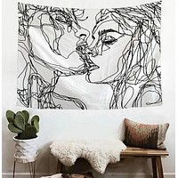 Fashion Casual Abstract Figure Tapestry