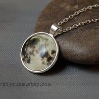 Full Moon Pendant necklace | Moon Necklace | Silver Moon | Round pendant |