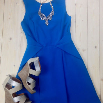 Fit & Flare Strappy Detail Dress