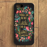 The Little Fierce On Charcoal iPhone 5S Case