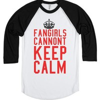 Fangirling-Unisex White/Black T-Shirt