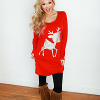 Rudolf the Red Nose Reindeer Tunic Red