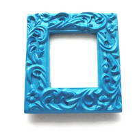 Teal Picture Frame - Blue Painted Frame - Small Picture Frame - Ornate Picture Frame - Baroque Photo Frame - Whimsical Frame - Table Frame