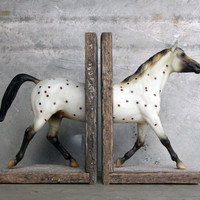 Polka Dot Sculpture Horse Bookend