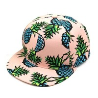 Fashion   Baseball Cap Pineapple Pattern Cotton Canvas Snapback Hat Adjustable Baseball Cap Hip-hop Hats Female #03 SM6