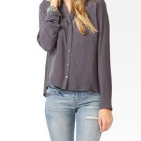 High-Low Button Up